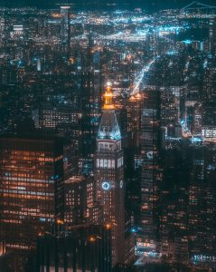aerial-photography-of-high-rise-buildings-at-night-3583568